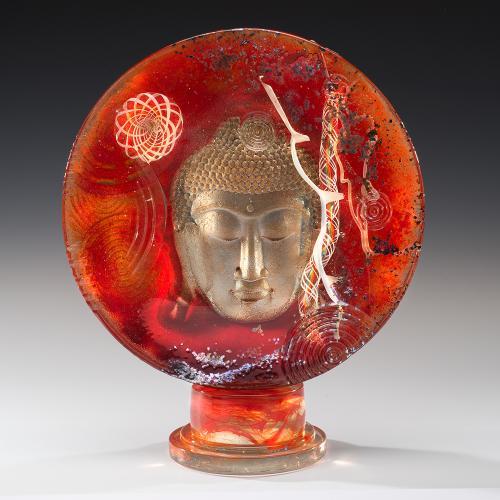 Buddha Disc - Red