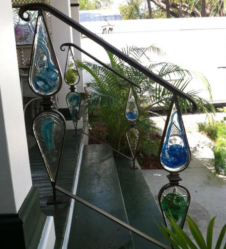 Iron and Glass Handrail